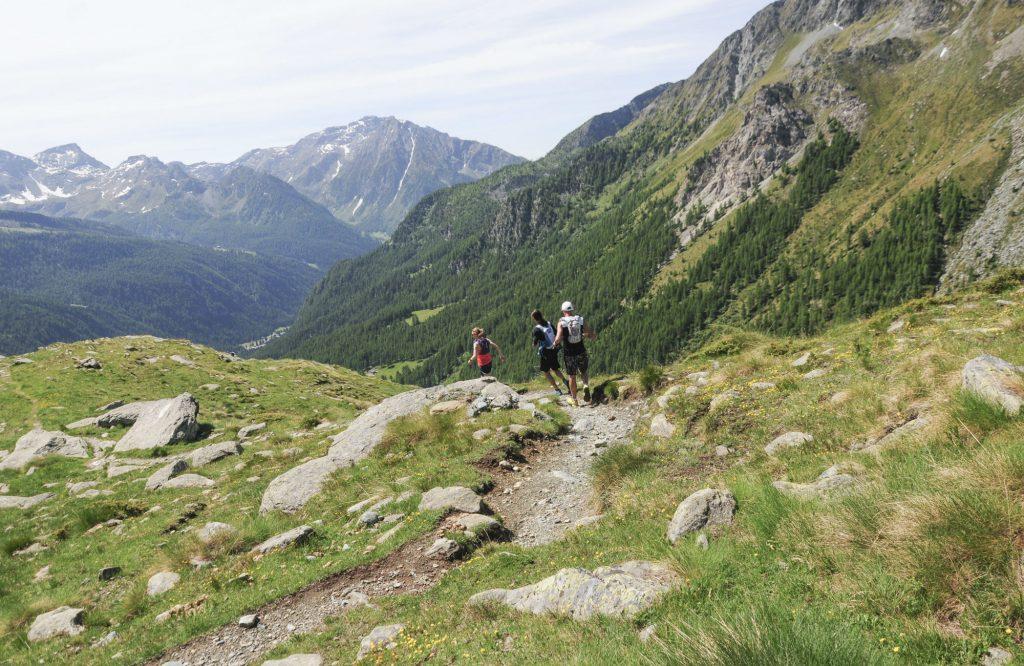 Descending from Alpe Varda