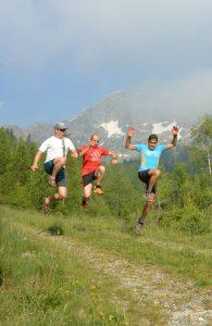 Trail running coumarial leretta